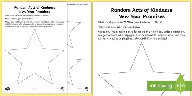 t p 81 ks1 random acts of kindness new year promises writing activity sheet english ver 1