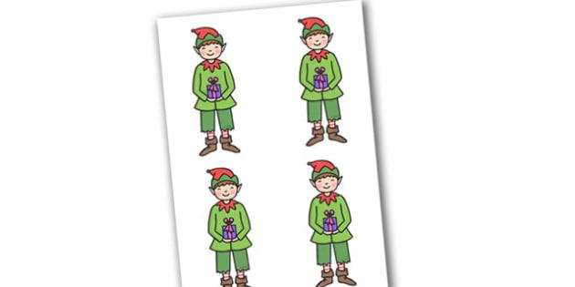Christmas Boy Elf Small Editable  - christmas, elves, santa, xmas