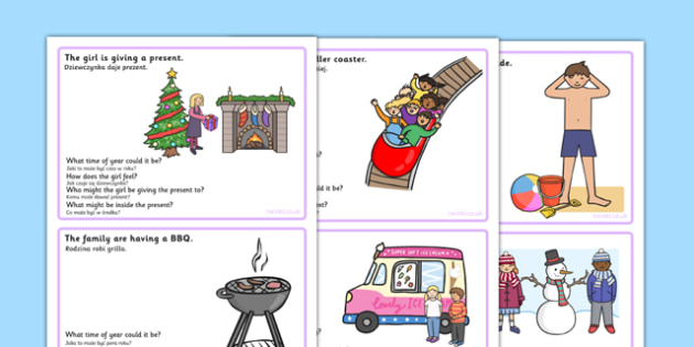 Inference Picture and Question Cards Polish Translation - inference, SEN, games
