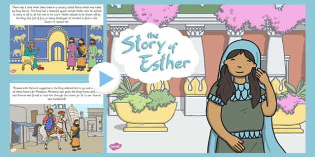 The Story of Esther Bible Story PowerPoint - esther, bible, story, bible stories, kindergarten, elementary, usa