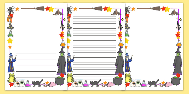 magic page borders witch magic page border border wizard spell rh twinkl co uk
