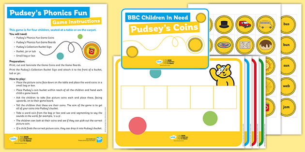 BBC Children in Need Pudsey's Phonic Fun Game