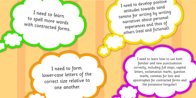 2014 National Curriculum Year 2 English Writing Assessment Thought Bubbles