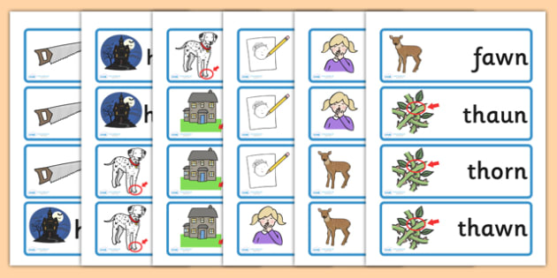Or Au Aw Which Is The Correct Spelling Word Cards - spellings