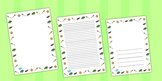 Vegetable Page Borders - pages, literacy, writing, frames, frame