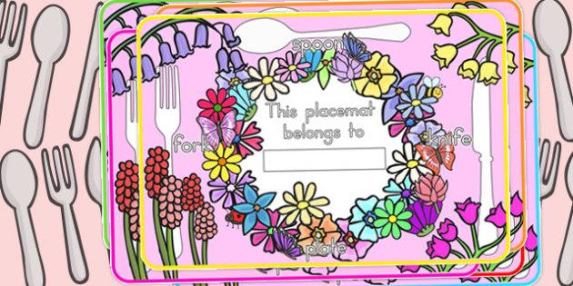 Flower Themed Placemats - Australia, Flower, Placemat, Place, Mat