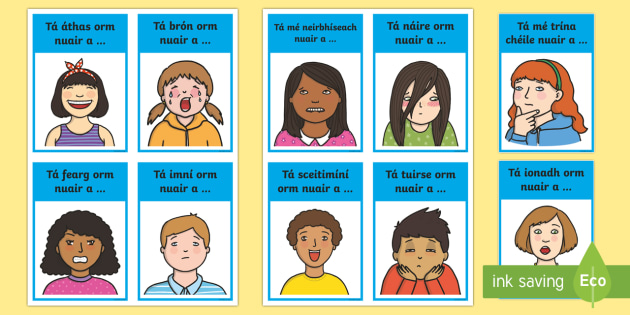 Feelings Sentences Starters Flashcards - Requests - ROI,Irish