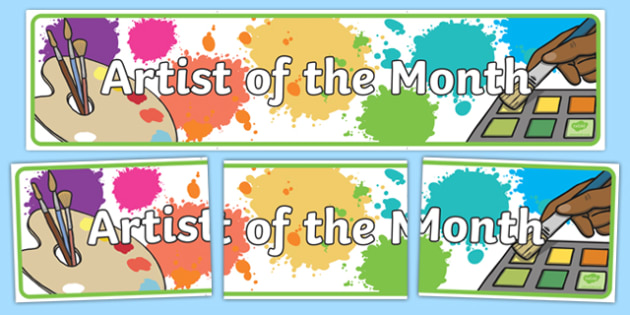 Artist of the Month Display Banner - artist of the month, artist, month, display banner, display, banner