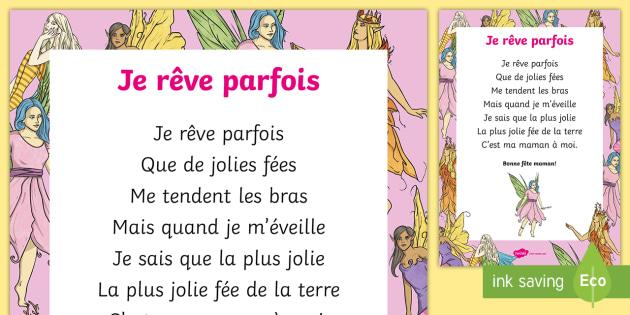 Poème Je Rêve Parfois La Fête Des Mères La Fête Des