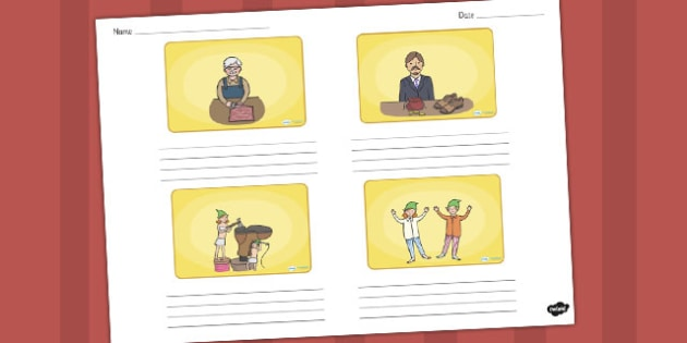 The Elves and the Shoemaker Storyboard Template - storyboard