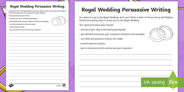New ks2 royal wedding persuasive writing activity sheet new ks2 royal wedding persuasive writing activity sheet harry and meghan royal expocarfo Image collections