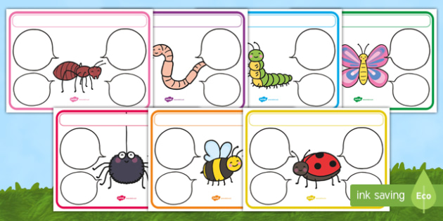 Minibeasts Themed Target Posters Speech Bubbles - minibeasts, minibeasts themed, target posters, targets, class targets, themed targets, class management