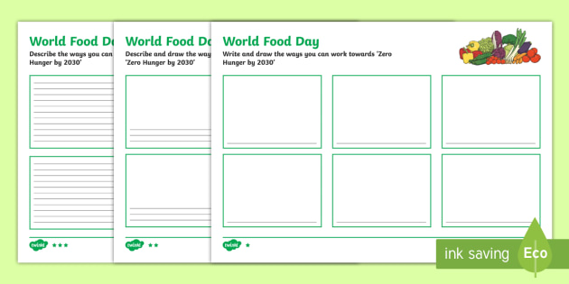 Qld World Food Day Differentiated Writing Frames