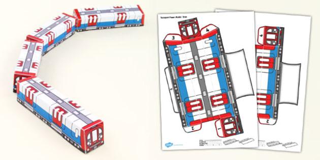 Transport Paper Model Train - transport, paper, model, train