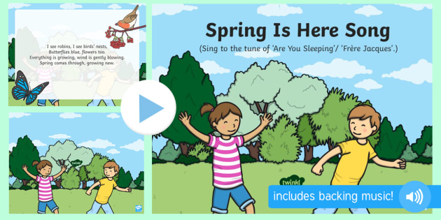 Spring Is Here Song Powerpoint Eyfs Early Years Key Stage 1 Ks1