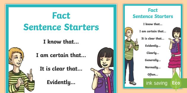 complex sentence starters
