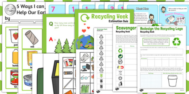Recycle Week Activity Pack - recycle, week, activity pack, pack