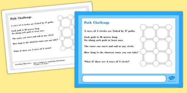 Path Maths Challenge A4 Display Posters - challenge, display