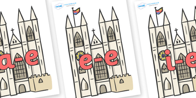 Modifying E Letters on Cathedrals - Modifying E, letters, modify, Phase 5, Phase five, alternative spellings for phonemes, DfES letters and Sounds