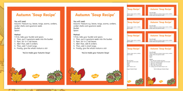 Autumn Treasure 'Soup' Recipe