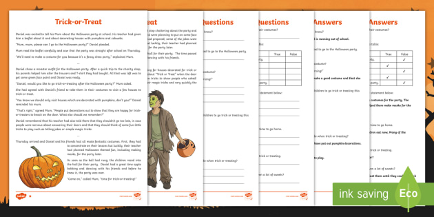 KS2 Halloween Fiction Differentiated Reading Comprehension