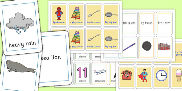 Three Syllable Final 'N' Playing Cards - final n, sound, playing