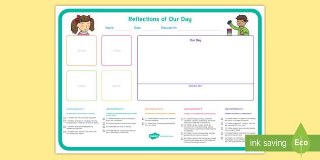 Eylf Daily Reflection Planning Template Eylf Planning