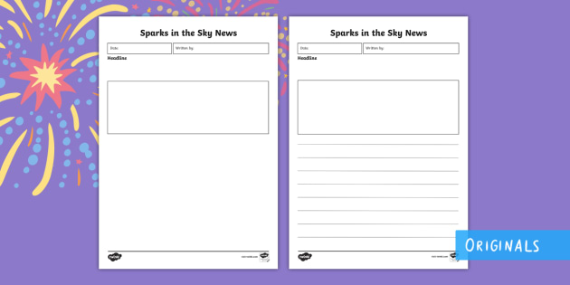 Sparks in the Sky Newspaper Report Writing Template Twinkl – News Report Template