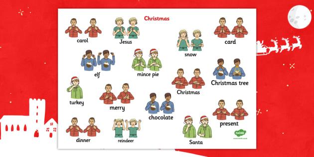 christmas british sign language mat christmas sign language