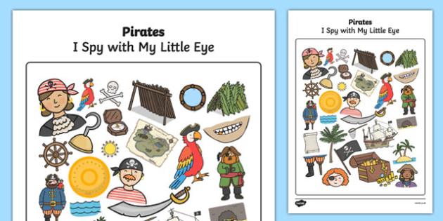 Pirate Themed I Spy With My Little Eye Activity - I spy, pirate