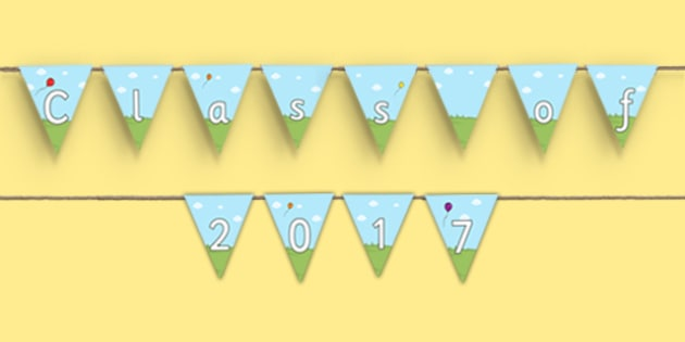 School Graduation Display Bunting - graduation, display, bunting