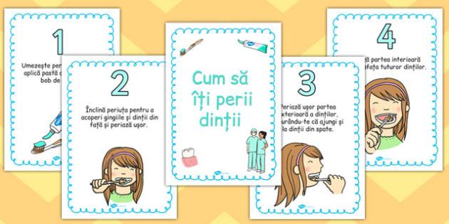 Cum să ne spălăm dinții - Planșe