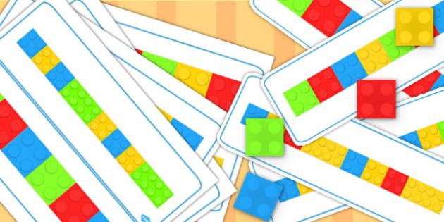 Block Colour Matching Cards Set 3 - match, activity, activities