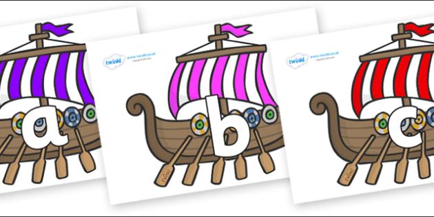 Phoneme Set on Viking Longboats - Phoneme set, phonemes, phoneme, Letters and Sounds, DfES, display, Phase 1, Phase 2, Phase 3, Phase 5, Foundation, Literacy