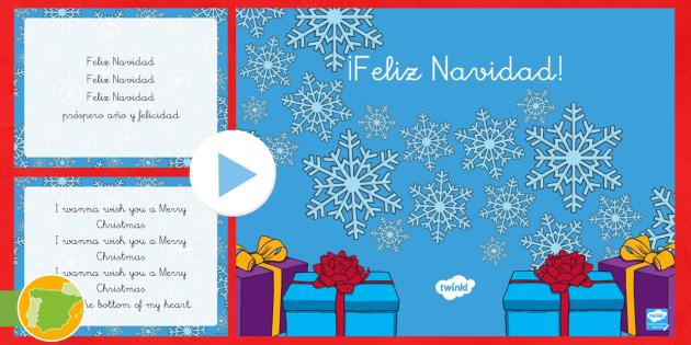 Presentación Villancico Feliz Navidad Educación Infantil