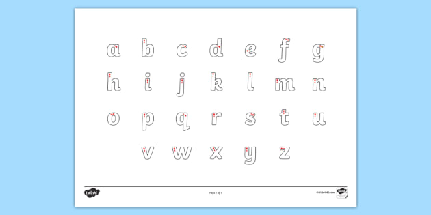 FREE! - Letter Formation Alphabet Handwriting Sheet Lowercase - alphabet