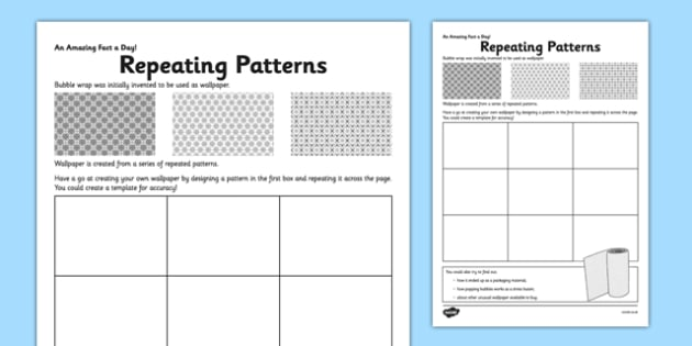 repeating patterns worksheet activity sheet repeating. Black Bedroom Furniture Sets. Home Design Ideas