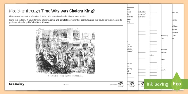 medicine through time why was cholera king source analysis. Black Bedroom Furniture Sets. Home Design Ideas