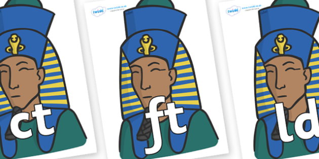 Final Letter Blends on Pharaohs - Final Letters, final letter, letter blend, letter blends, consonant, consonants, digraph, trigraph, literacy, alphabet, letters, foundation stage literacy