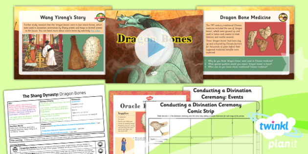 History: The Shang Dynasty: Dragon Bones UKS2 Lesson Pack 4