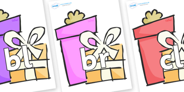 Initial Letter Blends on Wedding Gifts - Initial Letters, initial letter, letter blend, letter blends, consonant, consonants, digraph, trigraph, literacy, alphabet, letters, foundation stage literacy