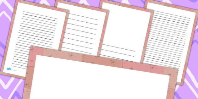 Brick Page Borders - learning wall, writing aid, writing template