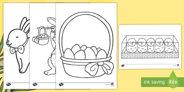 Ostern Ausmalbilder Osterhase Osterei Ei Religion Auferstehung