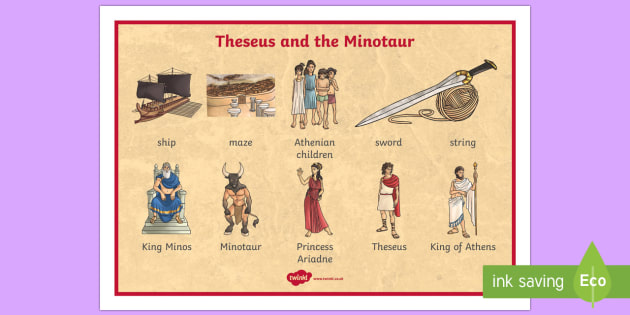 Theseus And The Minotaur Story Cards Theseus Minotaur
