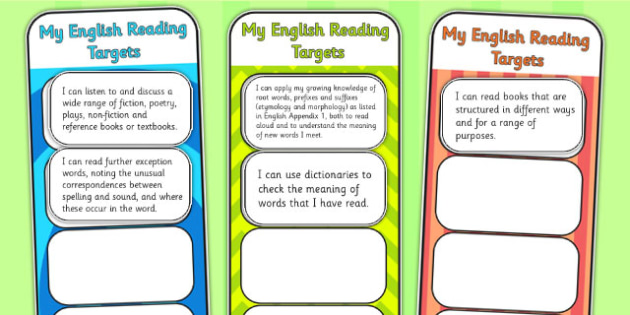 2014 National Curriculum LKS2 Years 3 and 4 Reading Assessment Bookmarks