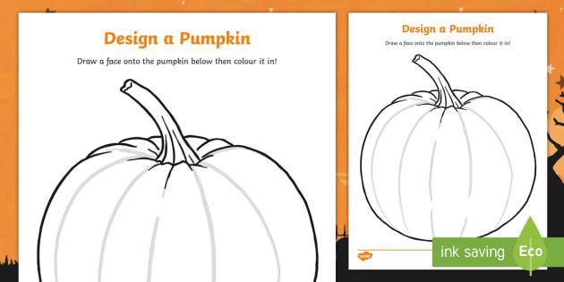 Design A Pumpkin Carving Worksheet Halloween Pumpkin Witch Bat