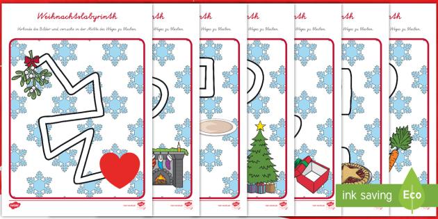 weihnachtliches labyrinth arbeitsbl tter weihnachten weihnachtlich. Black Bedroom Furniture Sets. Home Design Ideas