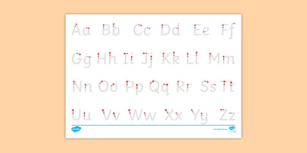 Letter Formation Handwriting Alphabet - Upper Case And Lower Case