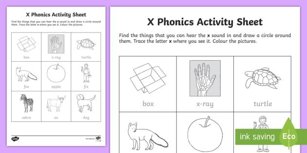 X Phonics Worksheet Worksheet Teacher Made