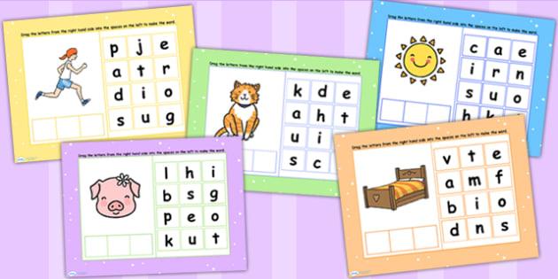 CVC Words Mixed Spelling Flipchart - CVC word, spell, spellings